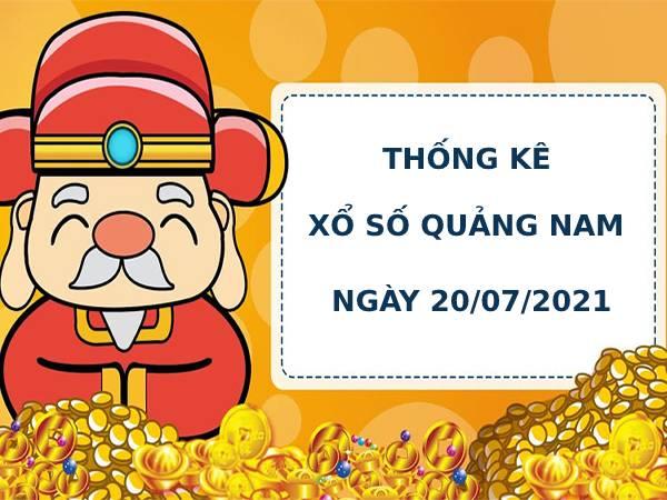 Thống kê soi cầu xổ số Quảng Nam ngày 20/7/2021 hôm nay